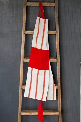 Linen Red Striped Apron