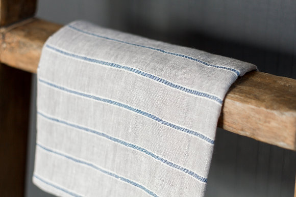 Blue Striped Tea Towel
