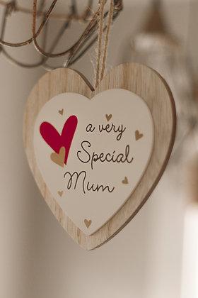 Hanging Mum Heart