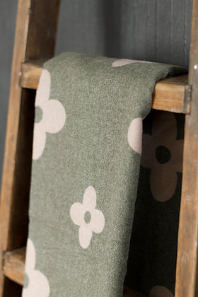 Green Flower Pattern Scarf