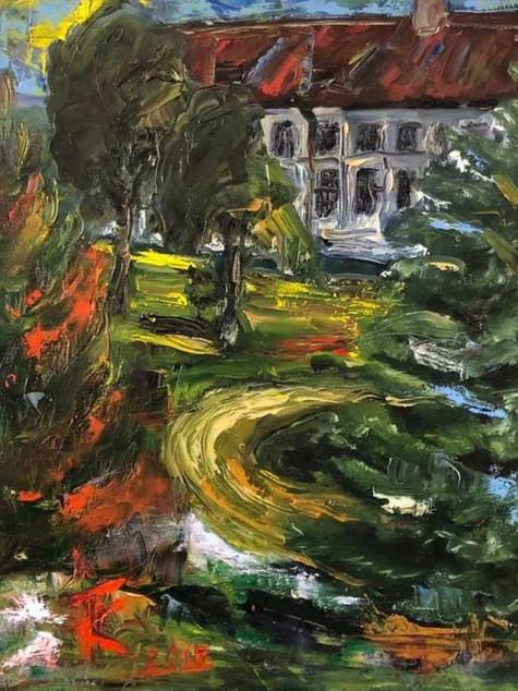 """#5 Tapybos paveikslas """"Vienuolyno parke"""""""