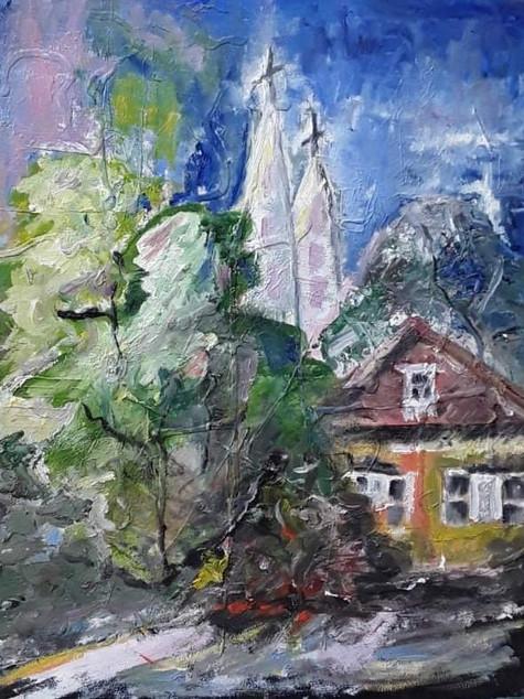 """#4 Tapybos paveikslas """"Ružava svajonė"""""""