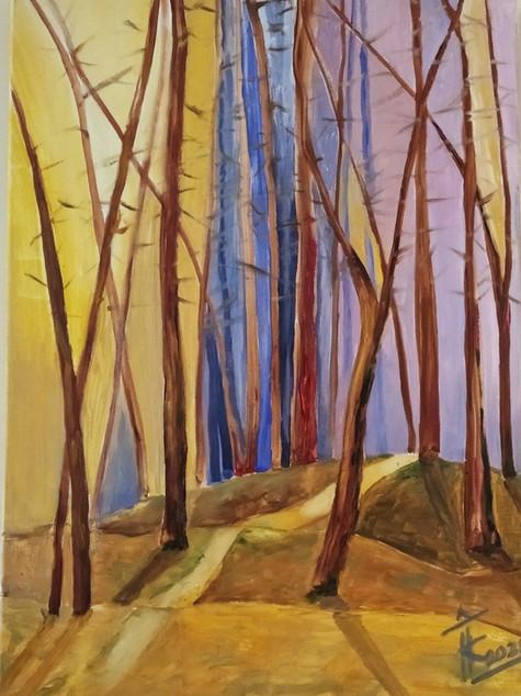 """#16 Tapybos paveikslas """"Takeliu saulėtam miške"""""""