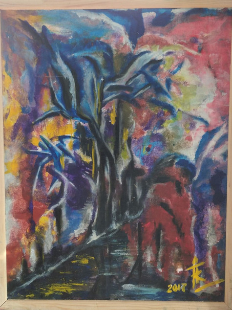 """#2 Tapybos paveikslas """"Atradimai kelio beieškant"""""""