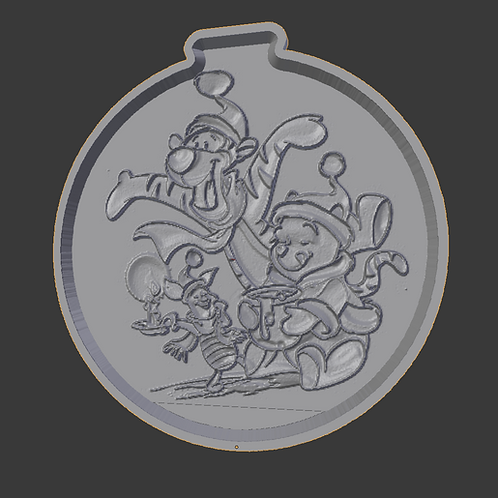 Winnie the pooh and friends Lithophane