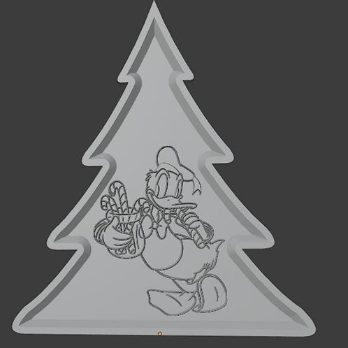 Donald Duck Tree LithoPhane 3D Model