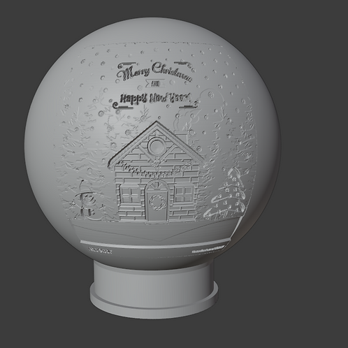 Holiday House LithoPhane 3D Model