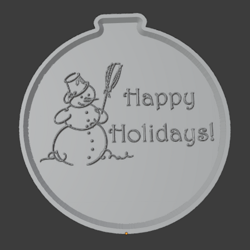 Snowman Ornament Lithophane 3D Model