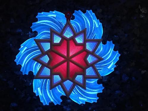 SnowFlake2 LithoPhane 3D Model