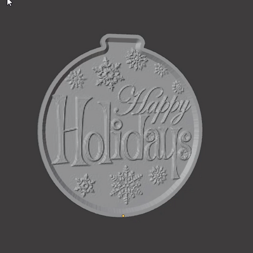 Happy Holidays Lithophane