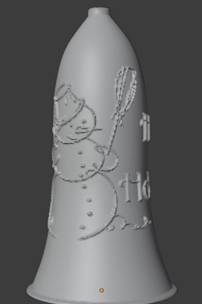 Snowman Bell Lithophane 3D Model