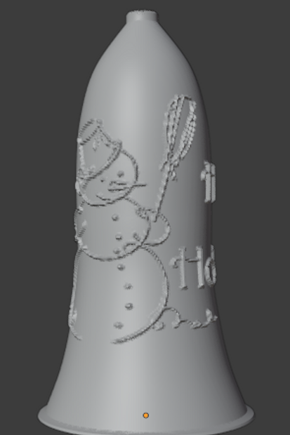 Frosty the Snowman Bell Lithophane