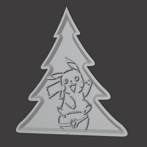 Pikachu Christmas tree Lithophane 3D Model