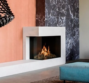 Faber Matrix II Two Sided Gas Fireplace.