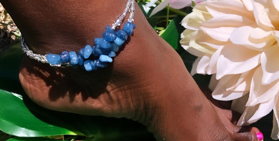 Bella Blue Sodalite Anklet