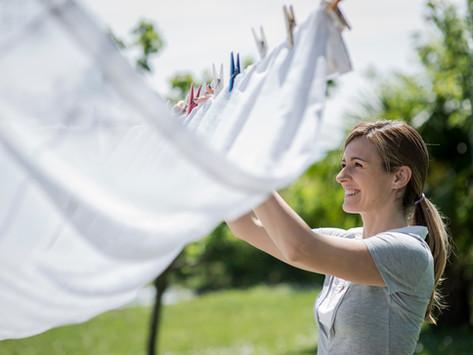 Vyzkoušejte 5 tipů pro venkovní sušení prádla