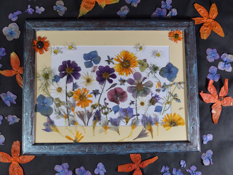 Jak vytvořit obraz z lisovaných květů