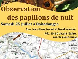 Observation des papillons de nuit samedi 25 juillet 2020 à Rabodanges
