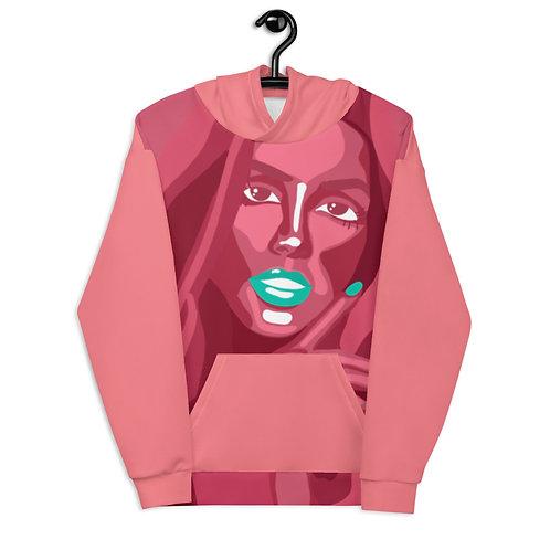 Flat bold color fashion portrait Unisex Hoodie