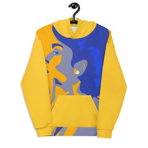 Yellow blue fashion woman Unisex Hoodie