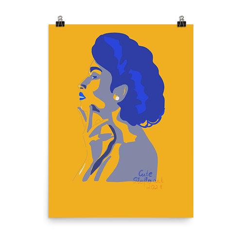 Fashion limited color woman portrait Poster