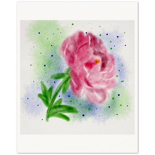 Watercolor peony Archival Matte Paper Poster