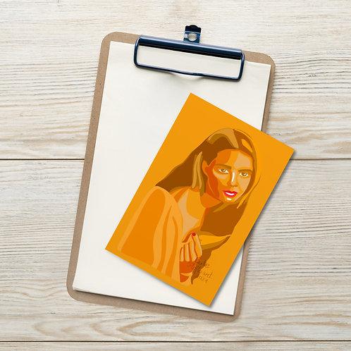 Sunflowers 🌻 female portrait Standard Postcard