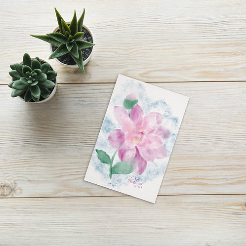 Pink daisy Standard Postcard