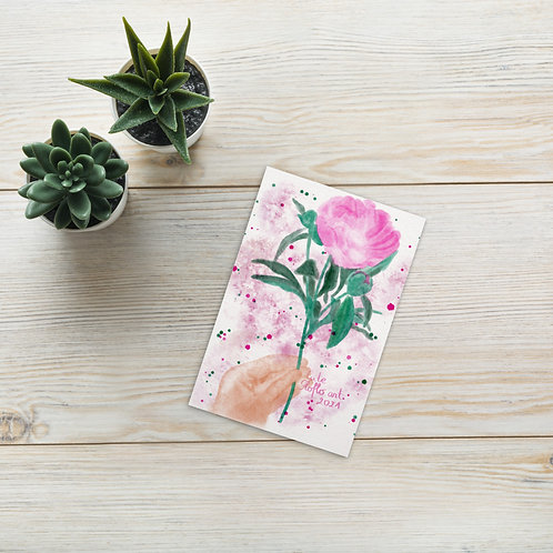 Pink peony Standard Postcard
