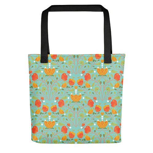 Colorful tulips fashionista woman summer Tote bag