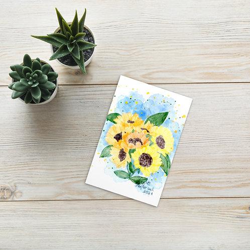 Watercolor sunflowers Standard Postcard