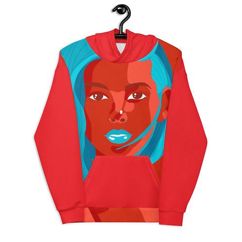 Flat bold fashion portrait Unisex Hoodie