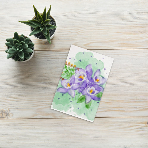 Botanical watercolor flowers Standard Postcard