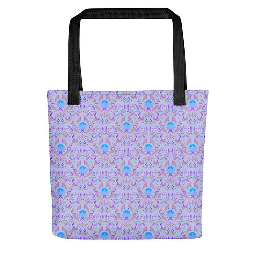 Blue floral|flowers fashionista summer woman Tote bag