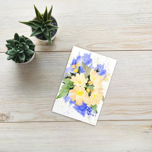 Watercolor flowers bouquet Standard Postcard