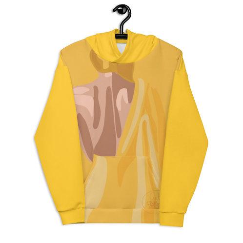 Yellow fashion woman Unisex Hoodie