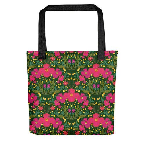 Tropical flowers summer woman fashion Tote bag