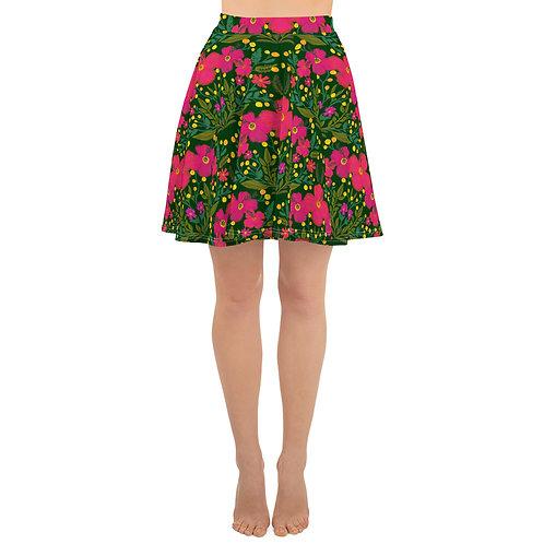 Botanical floral summer Skater Skirt