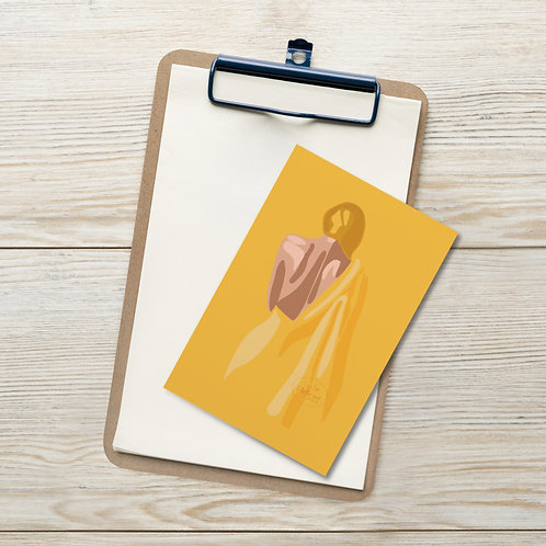 Cute woman| yellow color fashion| fashionista| woman in yellow Standard Postcard