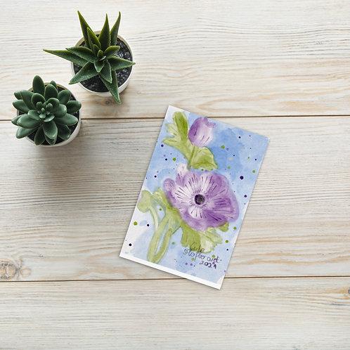 Watercolor botanical flowers Standard Postcard