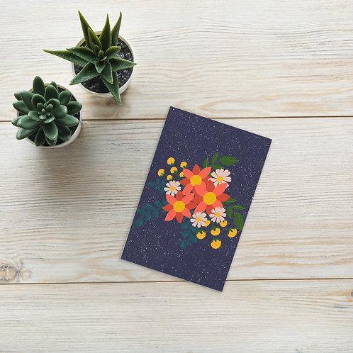 Flat Floral botanical Standard Postcard