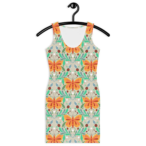 Butterfly and ladybug summer Sublimation Cut & Sew Dress