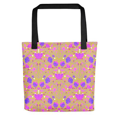 Colourful summer wildflowers woman beach summer Tote bag
