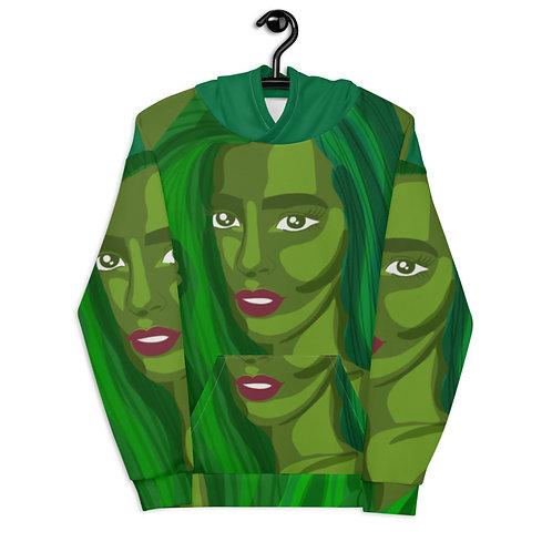 Green color fashion female Unisex Hoodie