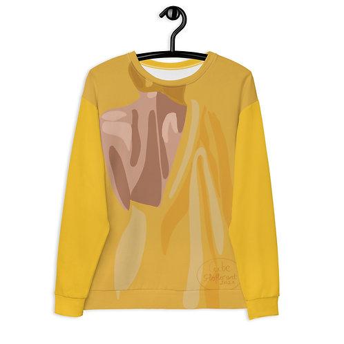Fashion yellow woman Unisex Sweatshirt