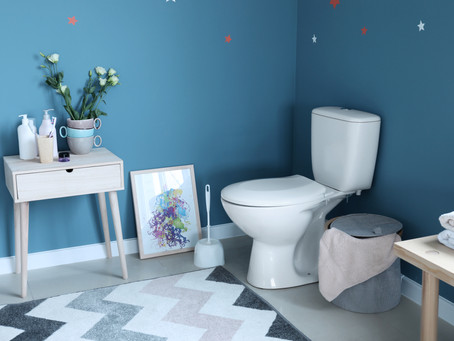 Do residential bathrooms designed for older adults need to have corner-located toilets?