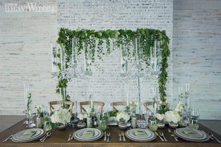 elegant-wedding-mint-green-wedding-ideas-greenery14