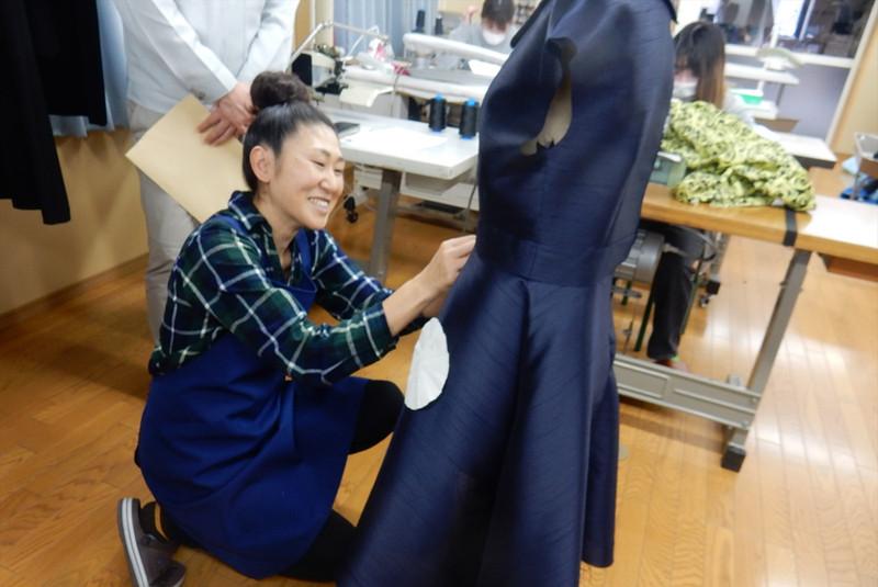 ●トワル確認後の実際の縫製