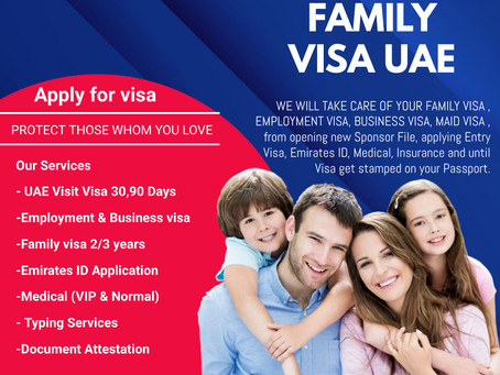 How to apply for your family's visa in the UAE ?