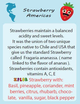 The description of the fruit with surprising combinations of flavors that we are going to test now!